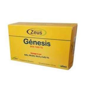 Zeus Génesis DHA 1000 TG Omega-3 120 capsulas