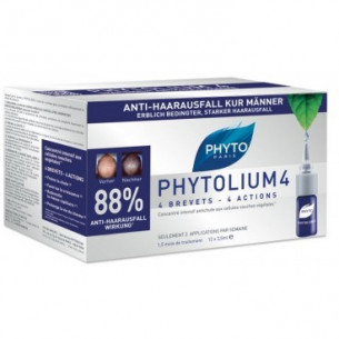 Phytolium 4 Treatment anti-hair growth stimulator 12 doses