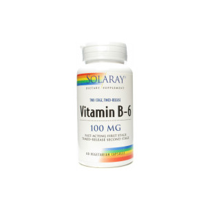 Solaray vitamina B 6 100 mg. 60 cápsulas
