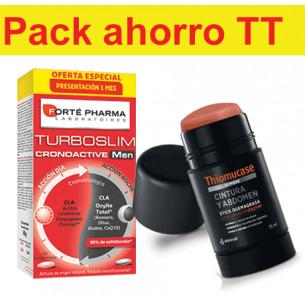 Pack ahorro hombre TurboSlim + Thiomucase abdomen y cintura