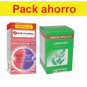 Pack ahorro TurboSlim 45+ y Camilina 200 caps