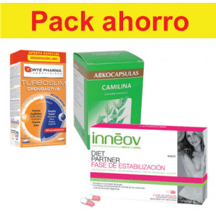 Pack ahorro TurboSlim 56 + Diet Partner Estabilización+ Camilina 200