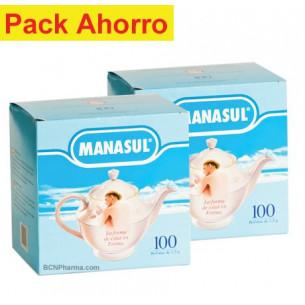Pack ahorro Manasul 200 bolsitas. Control de peso y estreñimiento