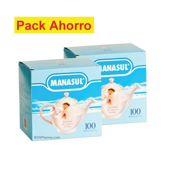 Pack ahorro Manasul 200 bolsitas.