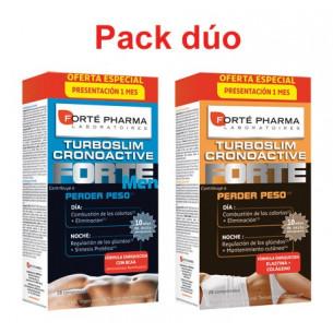 Packs ahorro Dúo con TurboSlim Cronoactive FORTE para mujer y hombre 56 cápsulas