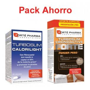 Pack ahorro TurboSlim Cronoactive 56 + Calorilight 60