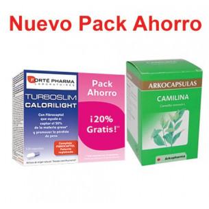Pack ahorro TurboSlim Calorilight 120 cáps + Camilina 200 cáps
