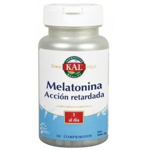 Kal Melatonina 1,9mg + 5-HTP (triptofano) accion retardada 60 comprimidos