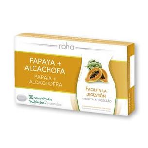 Roha Max papaya y alcachofa 30 grageas