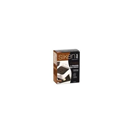 Sikendiet postre chocolate negro intenso 7 sobres