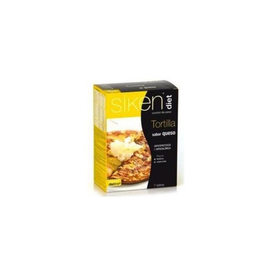 Sikendiet tortilla gourmet tres quesos 7 sobres