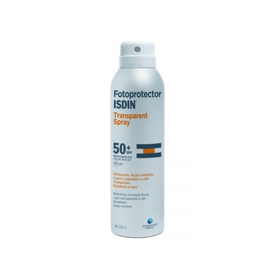 Isdin Fotoprotector Transparent Spray SPF 50+ 200ml. (corporal)