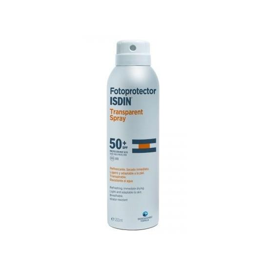 Isdin Sunscreen Transparent Spray SPF 50+ 200ml. (body)