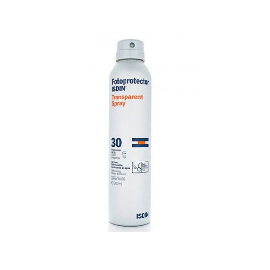 Isdin Sunscreen Transparent Spray SPF 30+ 200ml. (body)
