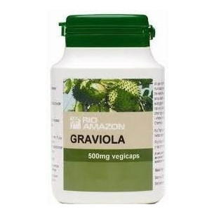 Graviola (guanabana) hoja 500mg. 90 capsulas Rio Amazon