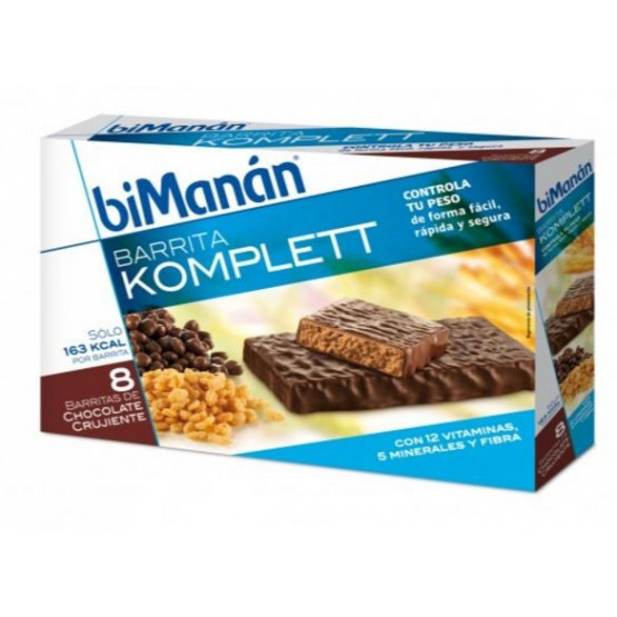 Bimanan crunchy chocolate bars Komplett. 8 units