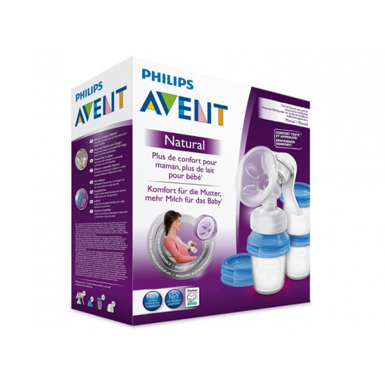 Philips Avent manual extractor Comfort + 3 storage vessels via SCF330 /13