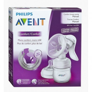 Philips Avent Manual Comfort breast pump + Milk 1 bottle Natural SCF330/20