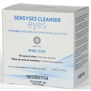 Sesderma Sensyses Limpiador ojos secos 14 toallitas