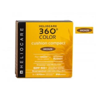 Heliocare 360° Color Cushion Compact SPF 50+ Protector Solar, Tono Bronze