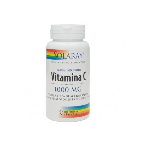Solaray Small Vitamina C 1000 mg 30 comprimidos