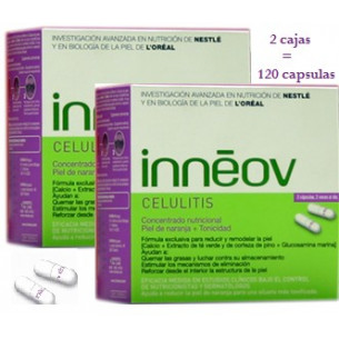 Inneov Cellulite, offering 2 boxes with 60 tablets each.