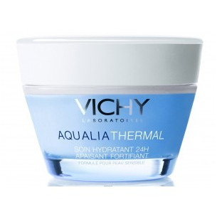 Vichy Aqualia Thermal Rica 50 ml. Piel Sensible Tratamiento hidratante 24h