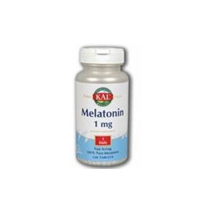 Solaray Kal Melatonina 1mg 120 comprimidos. Insomnio