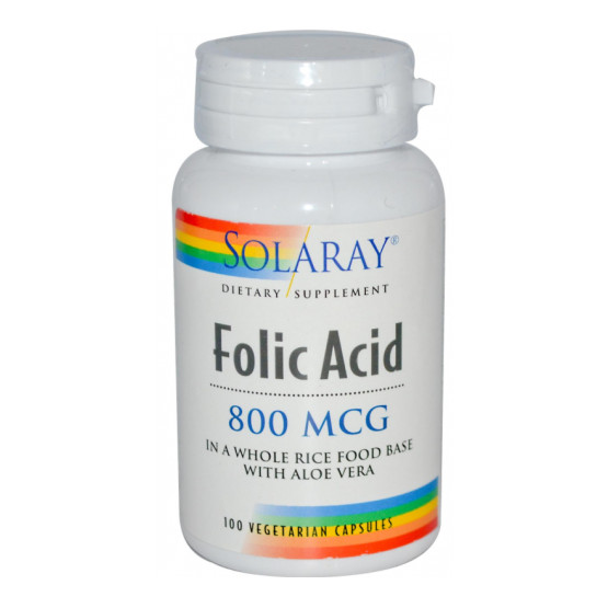 Solaray Folic Acid 100 Capsules