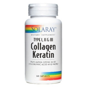 Solaray COLLAGEN KERATIN 60 comprimidos