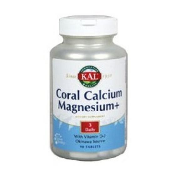 Solaray CORAL Calcium Magnesium 90 tablets
