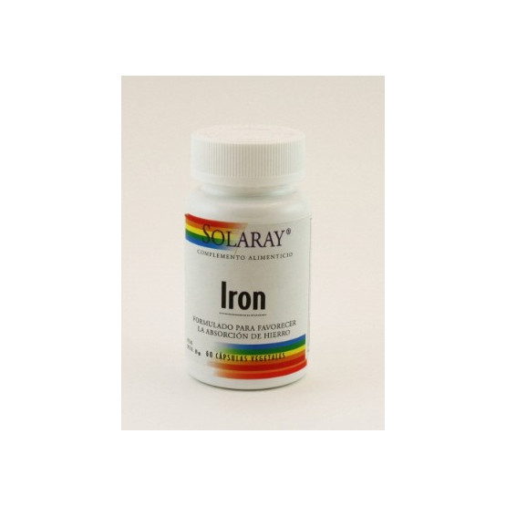 Solaray IRON citrato 60 cápsulas