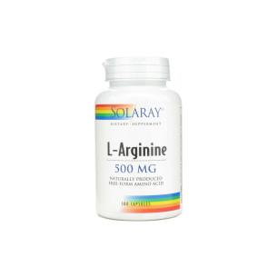 Solaray L-ARGININE 100 cápsulas