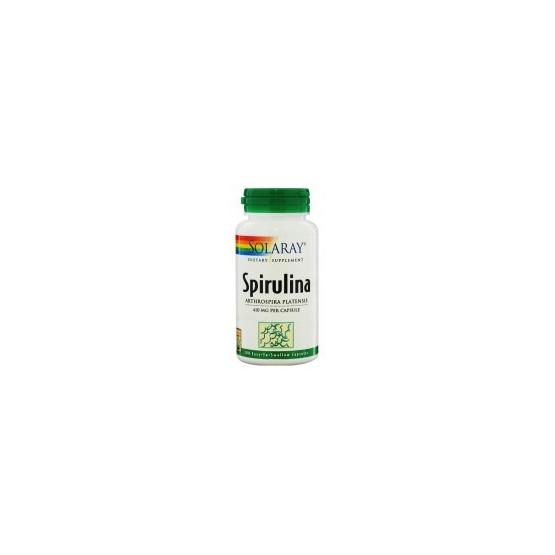 Solaray SPIRULINA 100 cápsulas