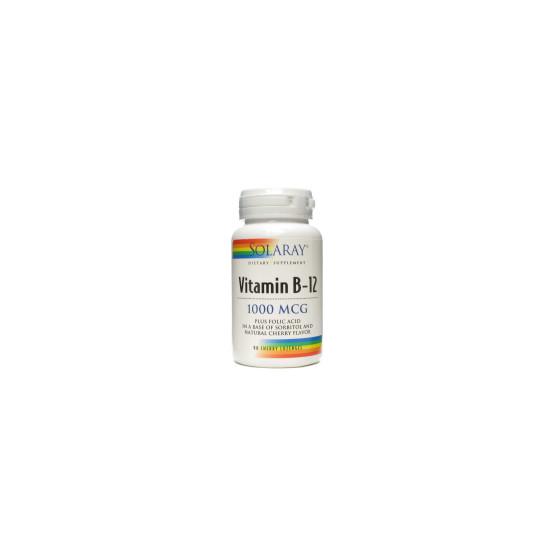 Solaray 90 VIT.B12 + folic acid sublingual tablets
