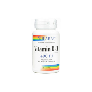 Solaray Vitamin D 400 IU 120 pearls DRY