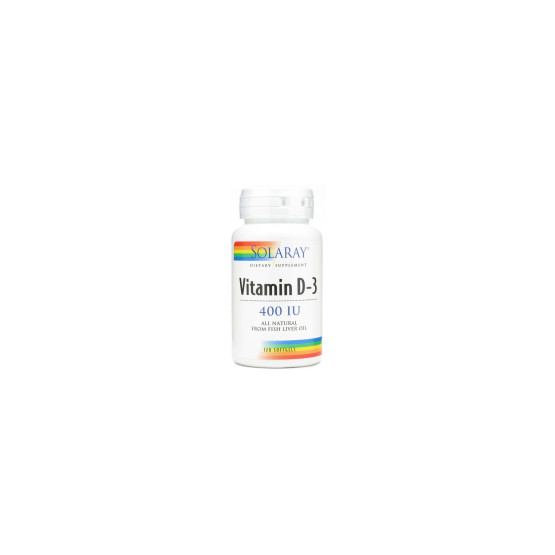 Solaray Vitamina D 400ui DRY 120 perlas