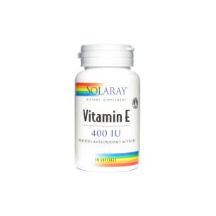 Solaray Vitamina E (100% d-alfa tocoferoles) 50 perlas