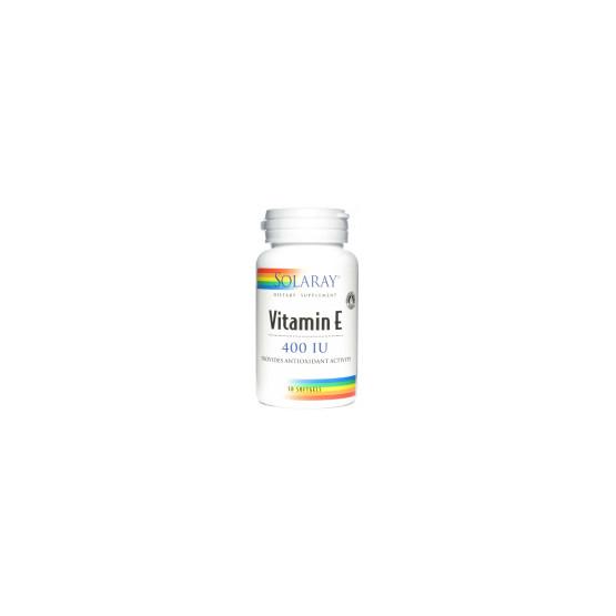 Solaray Vitamin E (100% d-alpha tocopherol) 50 pearls