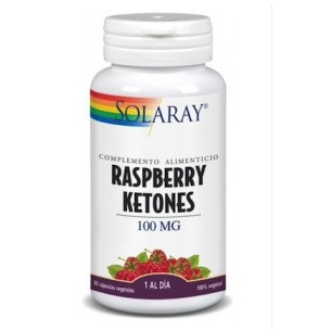 Solaray Raspberry Ketones 100 mg 60 cápsulas.