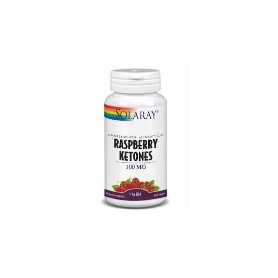 Raspberry Ketones Solaray 100 mg 60 capsules.