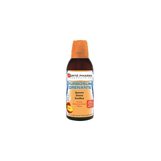 Forte Pharma Turboslim Draining 500ml peach tea flavor.
