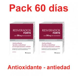 Pack Resveradox Forte con 50 mg de Resveratrol (60 días)