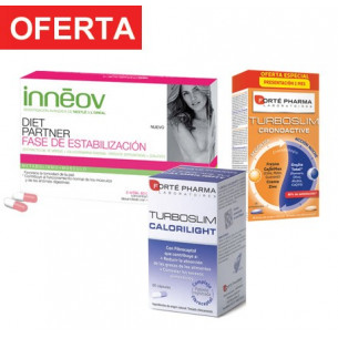 Pack ahorro TurboSlim + Inneov Estabilización + Calorilight