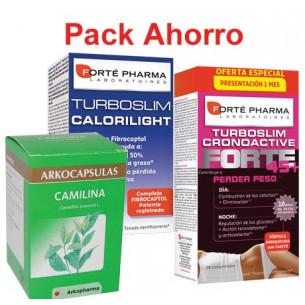 Pack ahorro Turboslim 45+, Calorilight 60 y Camilina 200
