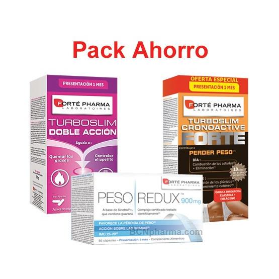 Pack ahorro Turboslim Doble Acción + PESOredux + Turboslim cronoactive FORTE