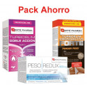 Pack ahorro INICIO DIETA Turboslim Doble Acción + PESOredux + Turboslim cronoactive FORTE