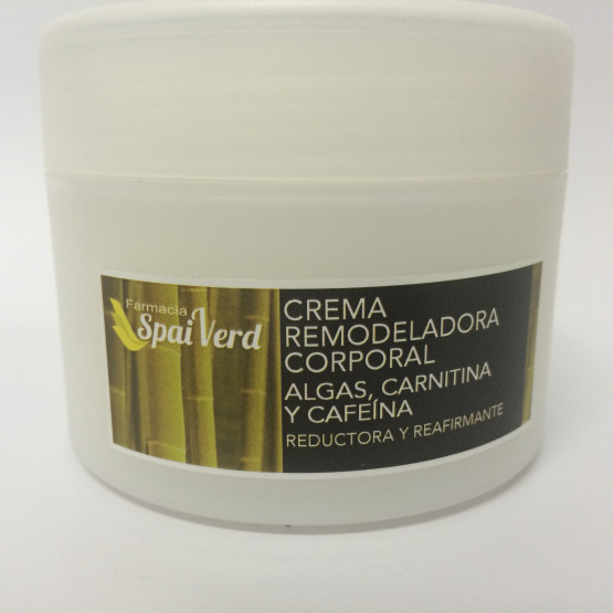 Spai Verd Crema remodeladora corporal ALGAS, CARNITINA y CAFEÍNA 250 ml
