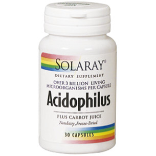 Solaray Acidophilus 3 Billion (Probiotics) 30 capsules