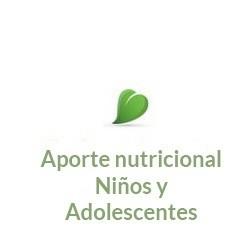 Aporte nutricional Niños y adolescentes